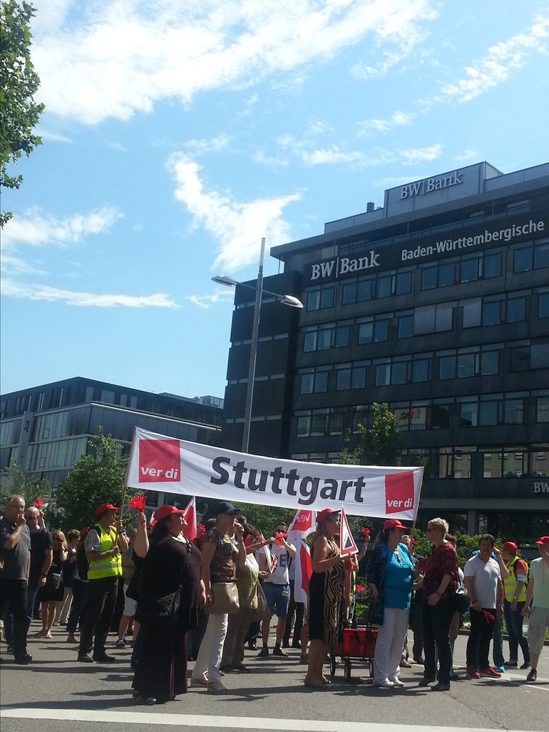 Demozug in Stuttgart am 24.6.2016